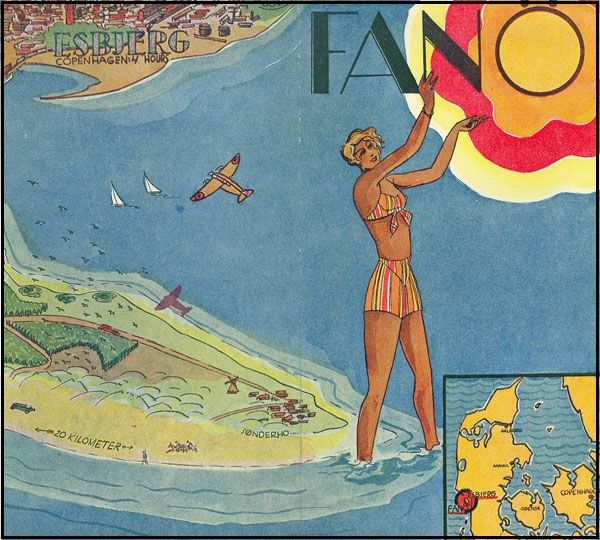 Fanø tourist poster from the 1930s