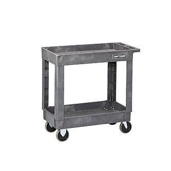 "Craftsman Craftsman 34-1/2"" 2-Shelf Heavy-Duty Plastic Utility Cart"