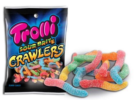 Candy ~ Ferrara Candy Company - Trolli = Sour Bright Crawlers