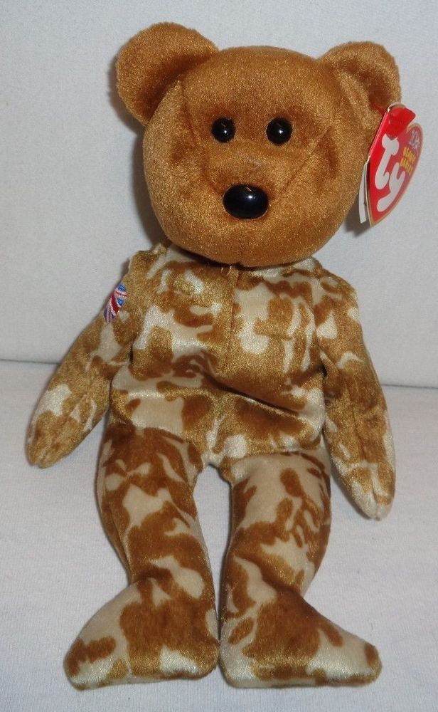 383a56e933c NEW TY HERO THE UK BEAR BEANIE BABY BRITISH FLAG ON ARM 8