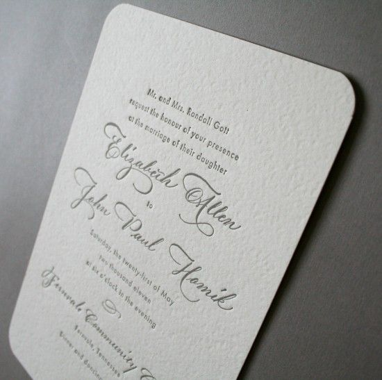 Elizabeth + John's Classic Calligraphy Wedding Invitations | Design & Photo: Arboreal | Calligraphy by Barbara