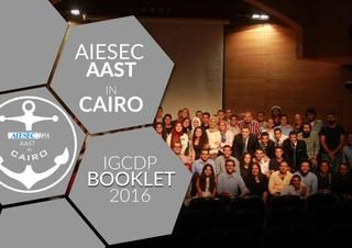 AIESEC AAST in Cairo Winter Projects'16 Booklet