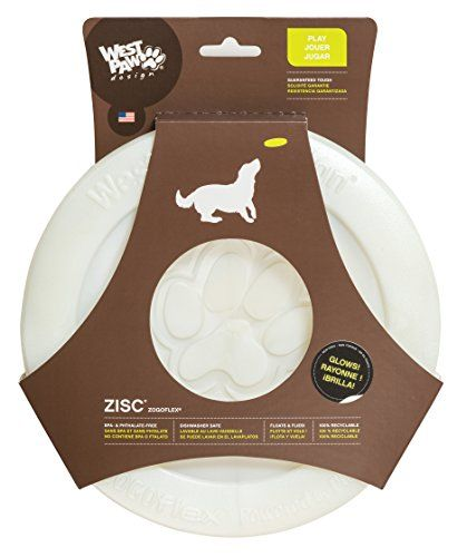 High-flying-fun frisbee that is perfect for fetch and floatable - Available in 6.5-Inch and 8.5-Inch Soft on dogs' mouths but flies like a hard plastic frisbee 100% Guaranteed against dog damage by Manufacturer
