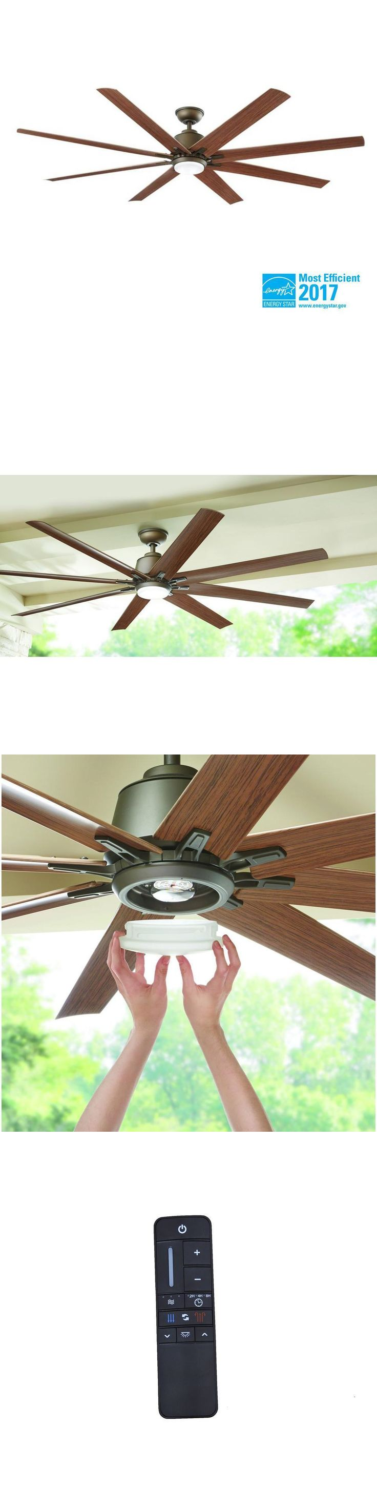 Emerson aira eco 72 inch oil rubbed bronze modern ceiling fan free - Ceiling Fans 176937 Home Decorators Kensgrove 72 In Led Indoor Outdoor Espresso Bronze Ceiling