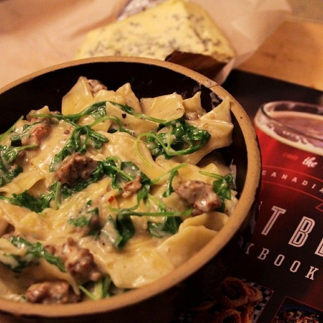 """Made last night's blue cheese pasta extra luxurious with #CDNcheese Bleu Benedictin. #SimplePleasures"" - David Ort"