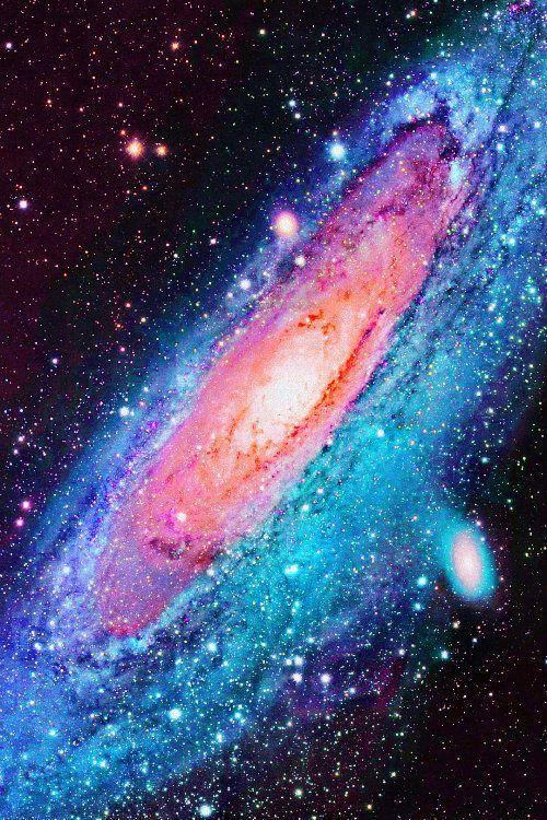 Outer space andromeda galaxy color pinterest for What is outer space