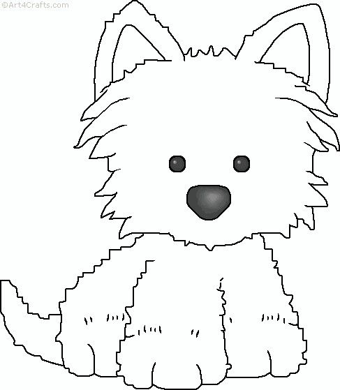 139 best embroidery dog patterns images on pinterest dog for Westie coloring pages