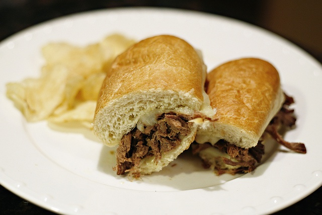 French Dip Sandwich halved by trumanlo, via Flickr