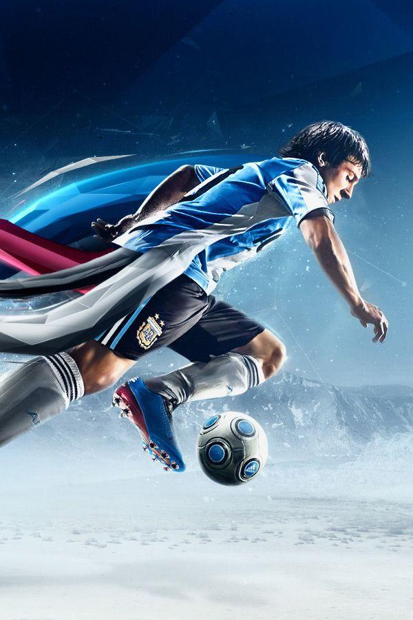 Este jugador de fútbol es muy rápido.