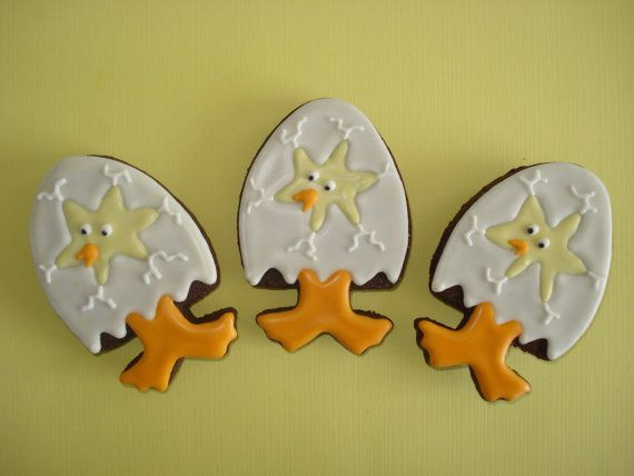 Easter theme decorated iced sugar by MarianneofFranceLLC on Etsy