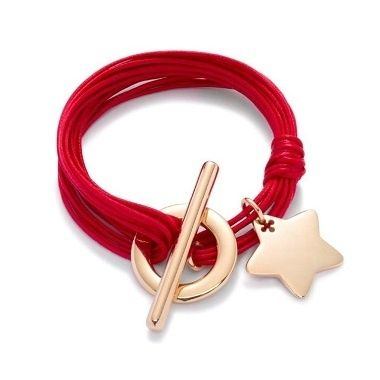 Star bracelet with red strings 77£ #lilou #star #bracelet #red #strings #christmas #present