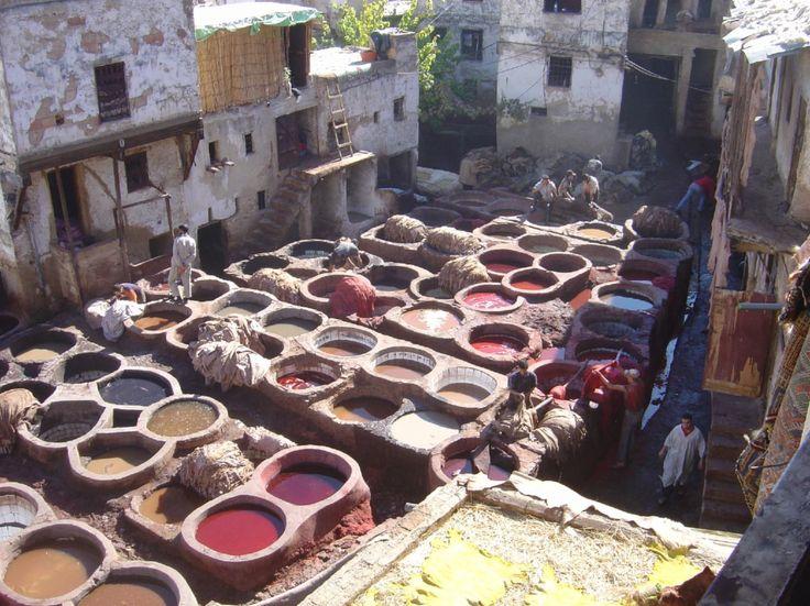 Morocco, Fez Medina Tannery