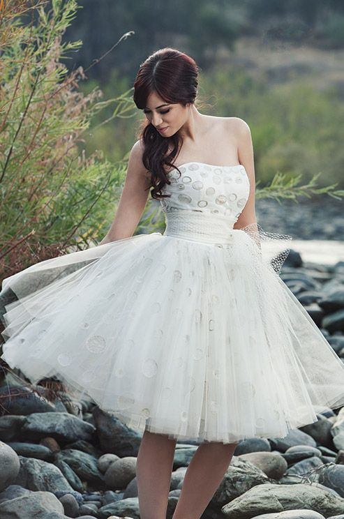 short ballerina wedding dress from Miosa Couture