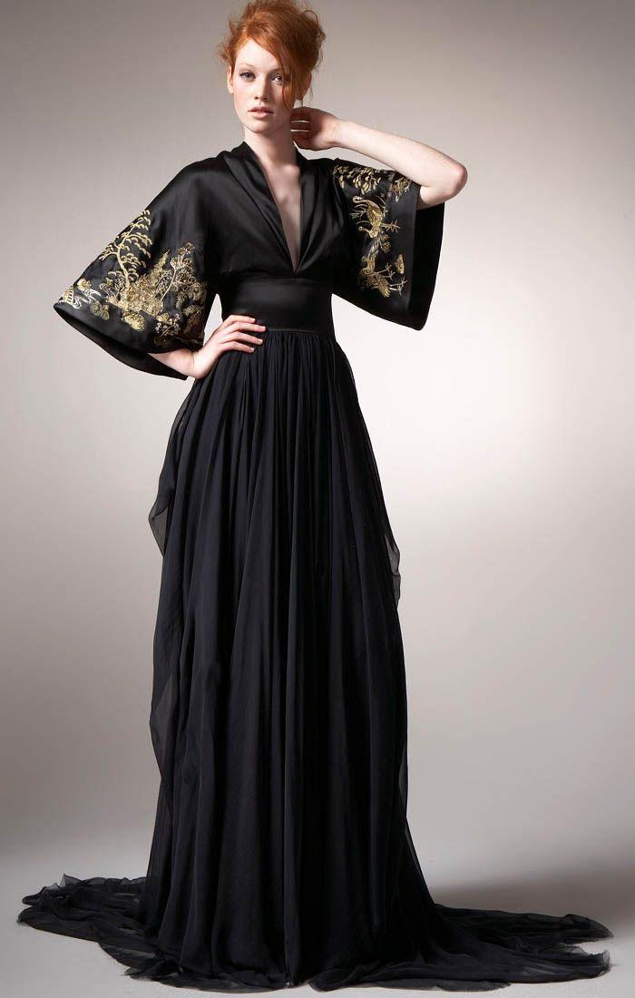 b980546b4d67 Alexander McQueen Maxi Kimono Gown front #alexandermcqueendress ...