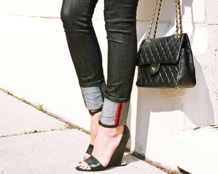 Rue de jeans; Sigerson Morrison shoes; Chanel bag