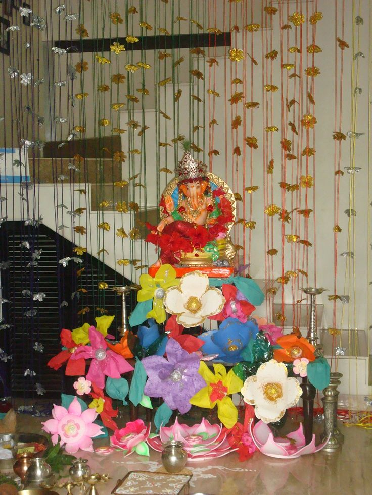 7 Best Images About Ganapati Decoration Ideas On Pinterest Trees Going Away And Places