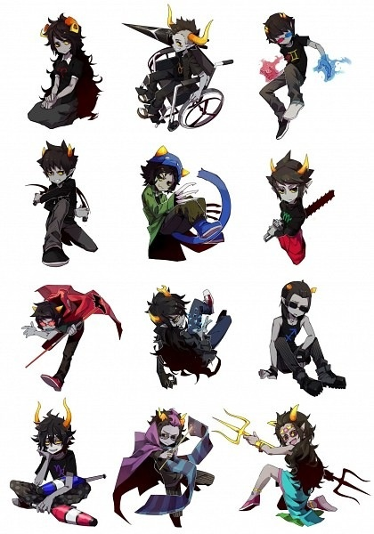 All the HomeStuck trolls                                                                                                                                                                                 More