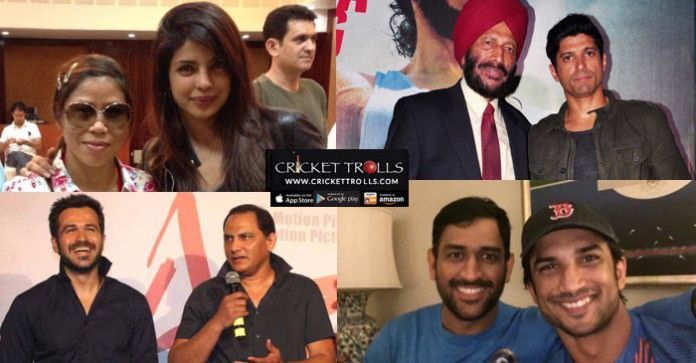Reel & Real life together (M.S. Dhoni, Milkha Singh, Mary Kom) Cricket Trolls  #Cricket #WT20  #bollywood  Sushant Singh Rajput as  MS Dhoni Emraan Hashmi as Mohammed Azharuddin Priyanka Chopra as MC Mary Kom Farhan Akhtar LIVE as Milkha Singh  http://www.crickettrolls.com/2016/03/22/reel-real-life-together-m-s-dhoni-milkha-singh-mary-kom-mohammad-azharuddin/