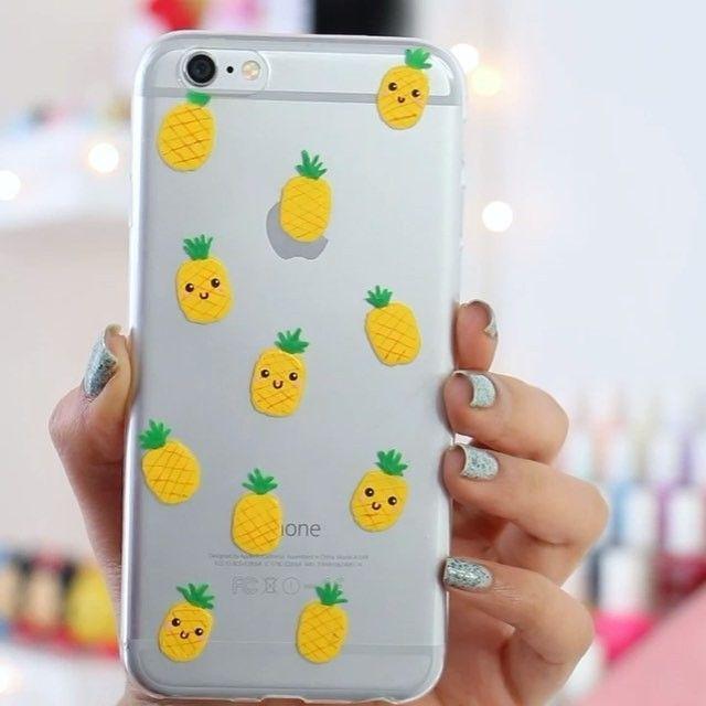 DIY Pineapple Phone Case  -instagram