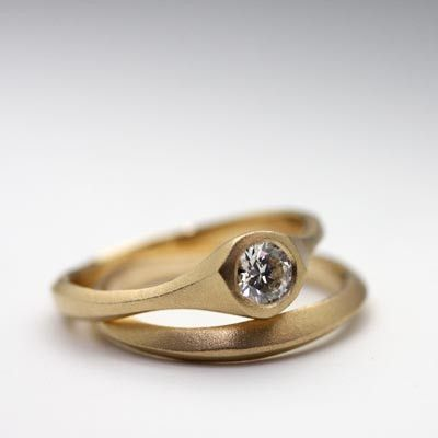 Carved series ring set