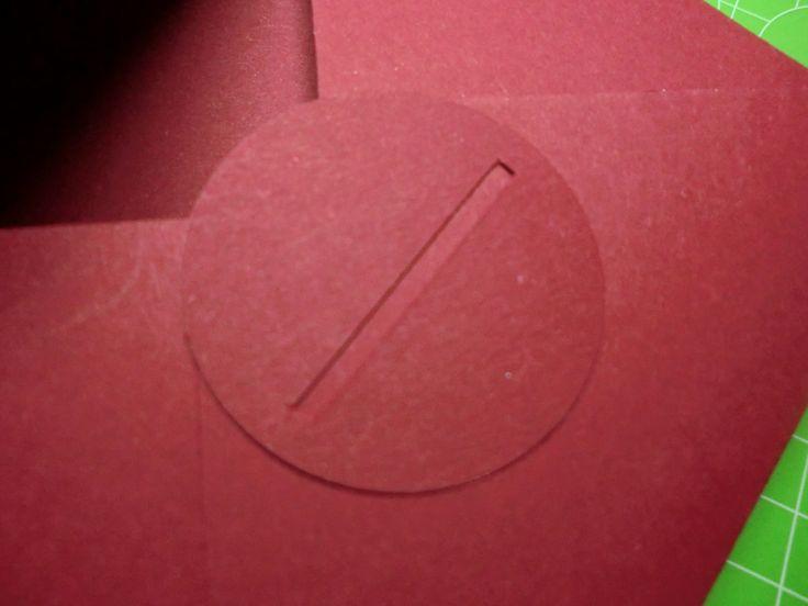Envelope Punch Board, Stampin Up,  Ritter Sport Verpackung, Rückseite Verschluss