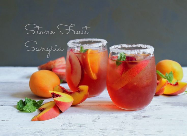 Stone Fruit Sangria. Such a pretty summer cocktail!