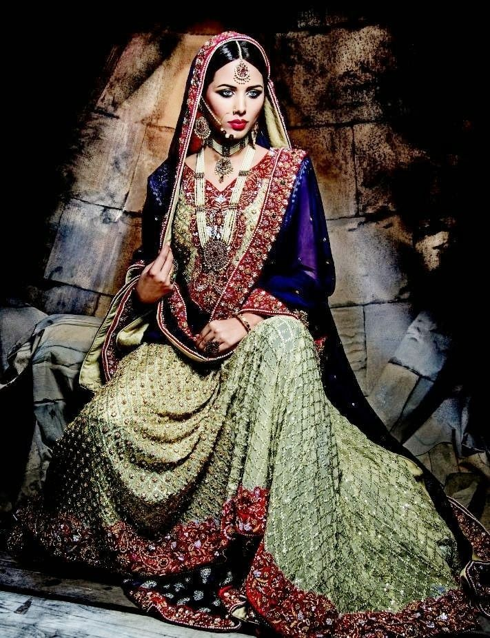 Pakistani Bridal Wear Dresses Designs 2014 (11)