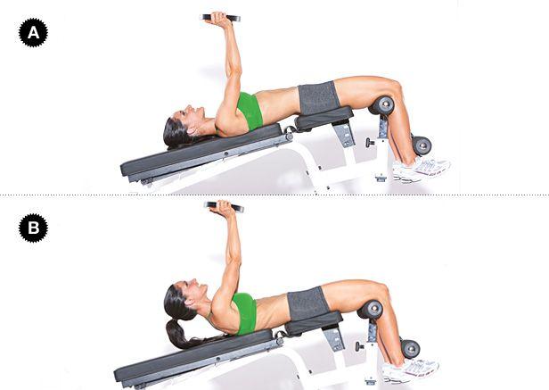 Weight Plate Decline Bench Crunch Target Muscles Rectus
