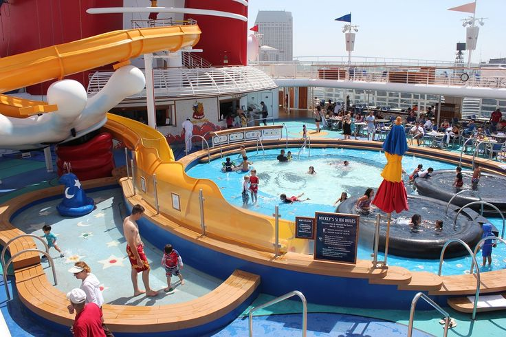 Disney Wonder Kids Mickey Pool with Waterslide. NEED to go on a Disney Cruise!