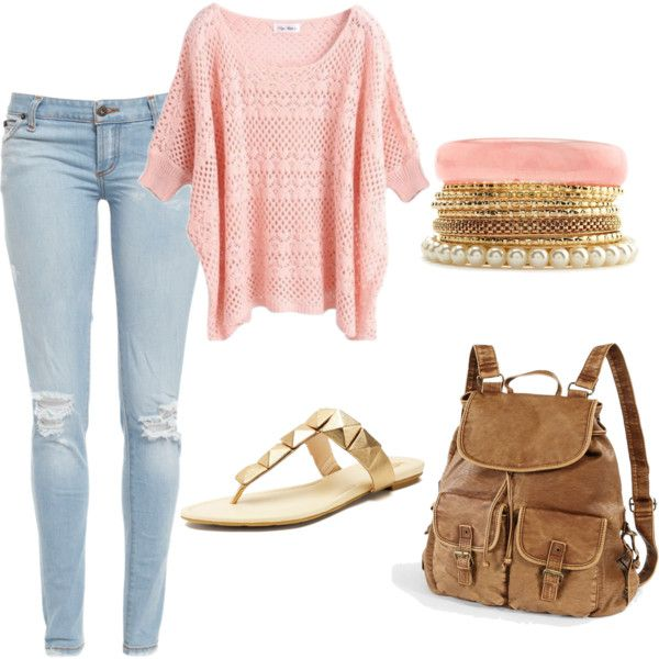 A fashion look from September 2012 featuring Bardot jeans, Vince Camuto sandals and Charlotte Russe bracelets. Browse and shop related looks.