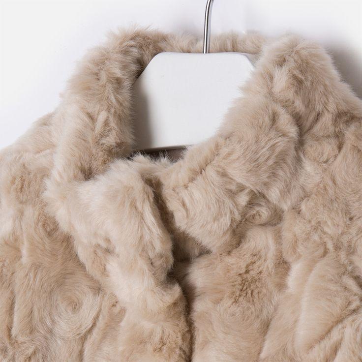 Abrigo chaquetón de niña con pelo Visón