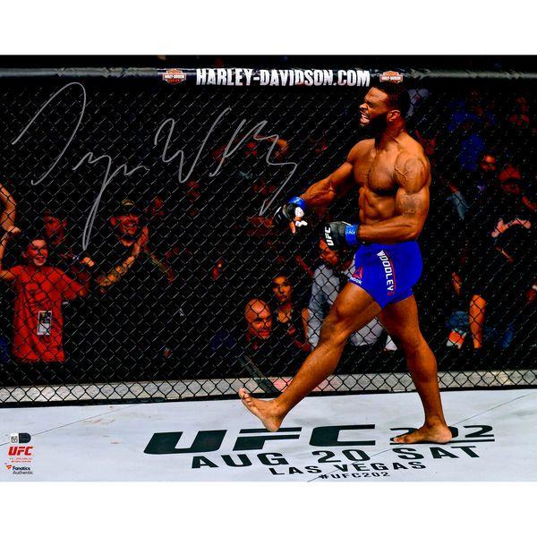 "Tyron Woodley Ultimate Fighting Championship Fanatics Authentic Autographed 16"" x 20"" UFC 201 Knockout Celebration Photograph - $49.99"