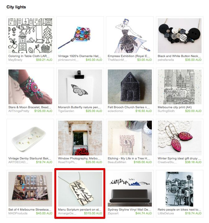 City Lights by Ina on Etsy