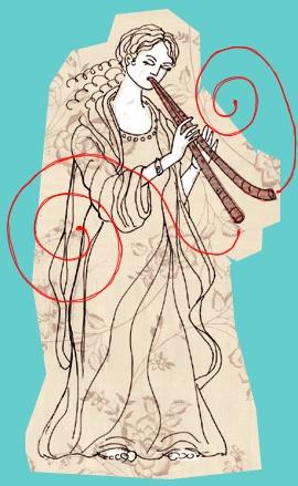 Euterpe, Muse of Music & Elegiac Poetry, Emblem- Aulos
