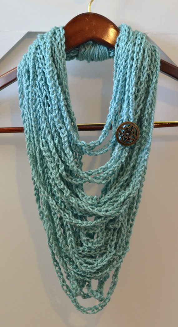 17 Best Ideas About Crochet Chain Scarf On Pinterest