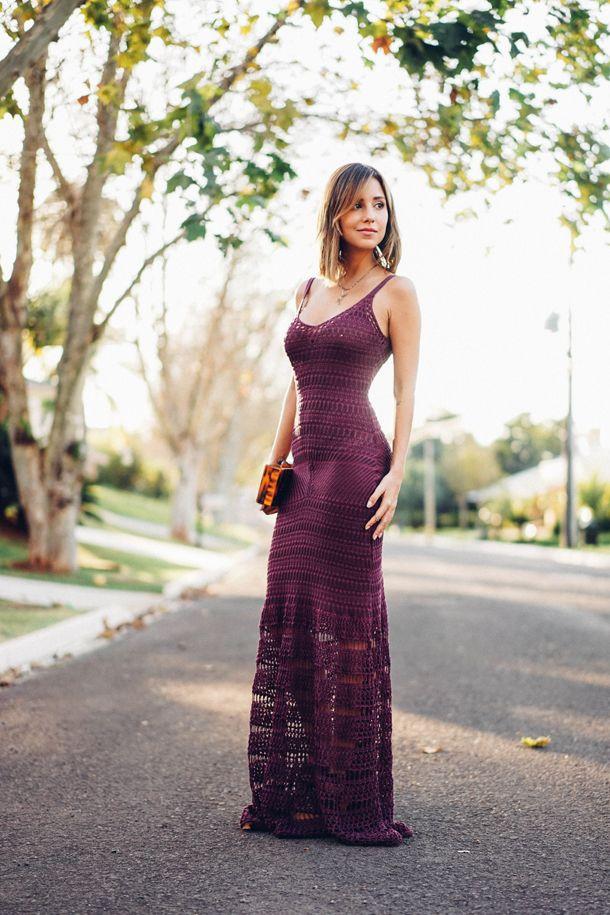 Look – Vestido longo de Tricot