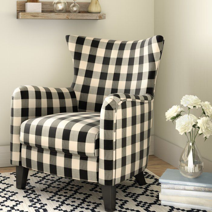 Jarrow Armchair Reviews Joss Main Living Room Furniture Recliner Furniture Plaid Decor #plaid #living #room #furniture