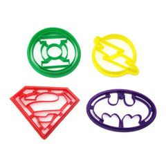 DC Comics 4 Cookie Cutter Set Thinking about using these to cut the watermelon into.
