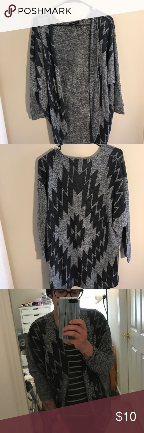 Tribal Print Cardigan Worn twice, still in good condition! Even though I am a size large this still fit me (see picture) Forever 21 Sweaters Cardigans
