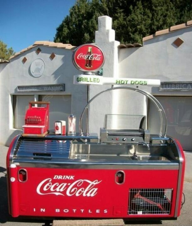 Vintage Coca-Cola soda fountain