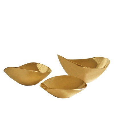 Gold Bowls - for that perfect sparkle on the coffee table: Houses, Bowls 22, Boats Decor, Brass Bowls, High Street, Home Decor, Modern Brass, Gold Bowls, Accessories