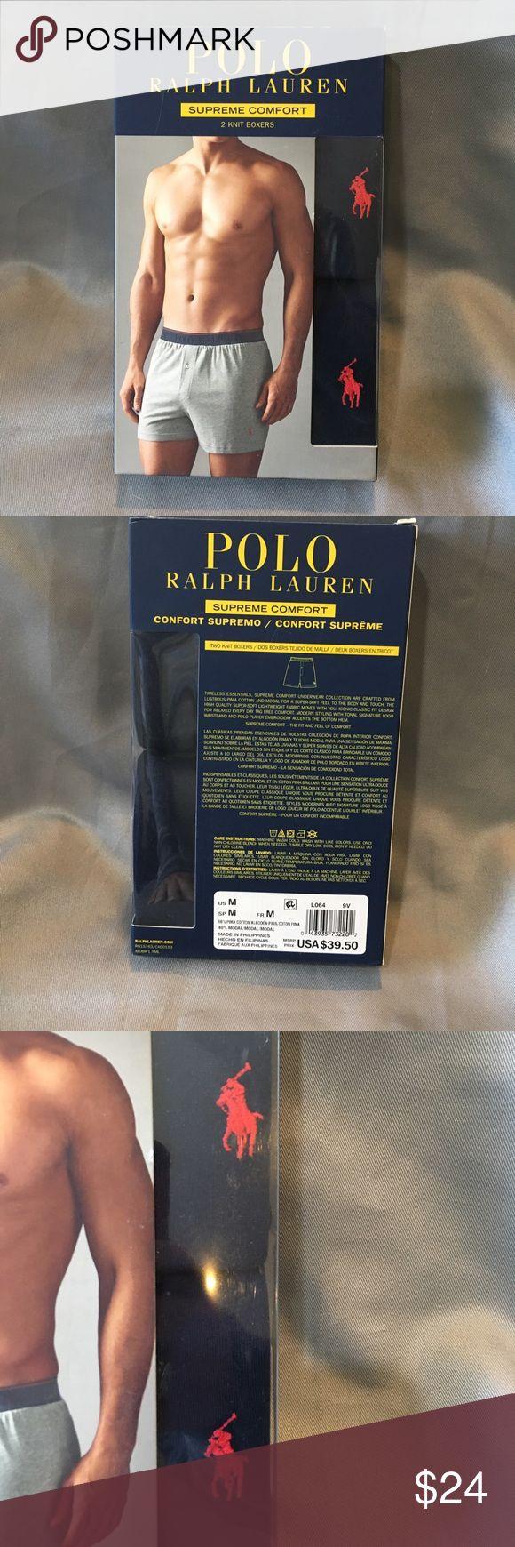 NWT POLO Ralph Lauren 2 Pk Knit Boxers NWT POLO Ralph Lauren 2 Pk Knit Boxers. Supreme comfort. Polo by Ralph Lauren Underwear & Socks Boxers