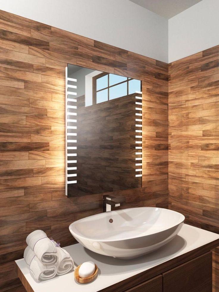 Platinum Tall LED Light Bathroom Mirror Platinum Range