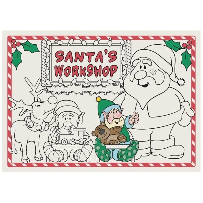 Santa S Workshop Paper Placemats Santas Workshop Classroom Christmas Decorations Hosting Christmas Party