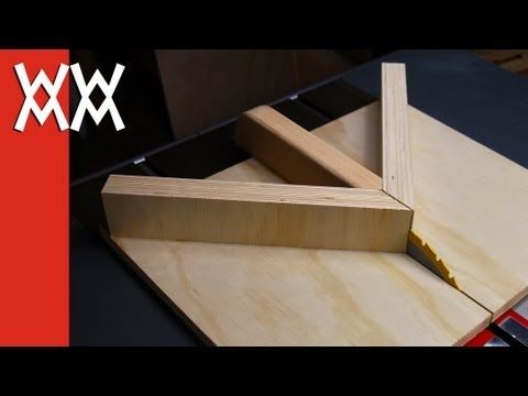 Jigs make life so much easier, and when you build one yourself it's even better. Make perfect 45 degree mitered corners every time with this do-it-yourself jig made of plywood.