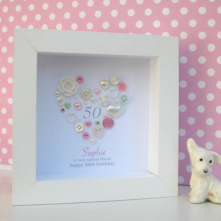 personalised 50th birthday button artwork by sweet dimple | notonthehighstreet.com