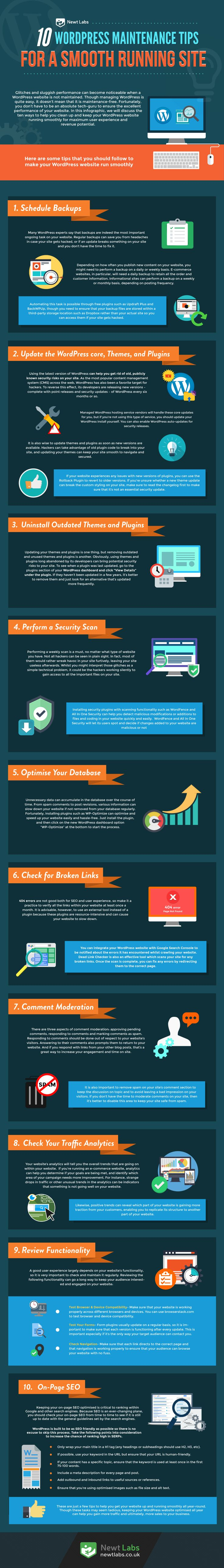 10 WordPress Maintenance Tips For A Smooth Running Site - #Infographic