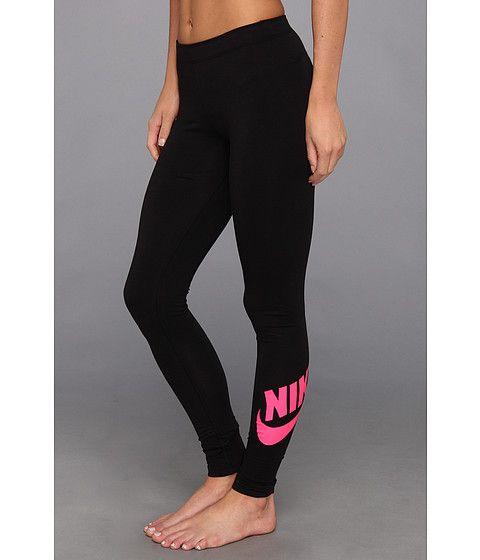Nike Leg-A-See Logo Legging Black/Pink Foil - Zappos.com Free Shipping BOTH Ways