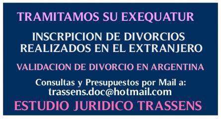 Abogados de Familia Mar del Plata Dra. Paula Trassens 155458788 trassens.doc@hotmail.com: ABOGADOS DE FAMILIA MAR DEL PLATA EXEQUATUR DRA. T...