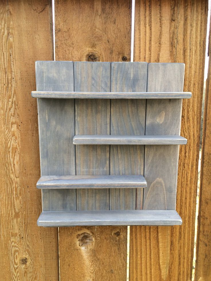 Essential Oil Wood Shelf in Gray Young Living or doTERRA by SweetLouiseCrafts on Etsy